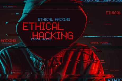 Hacker skapucí snápisem etický hacking